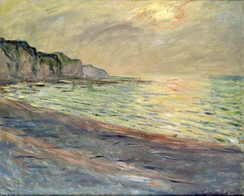 Claude Monet Paintings Pourville Sunset jpg