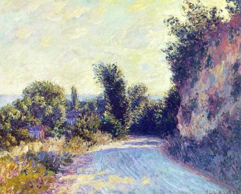Claude Monet Paintings Road near Giverny jpg