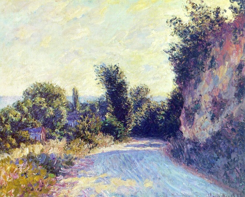 Claude Monet Paintings Road near Giverny jpeg