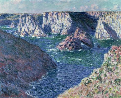 Claude Monet Paintings Rocks at Belle Ile jpg