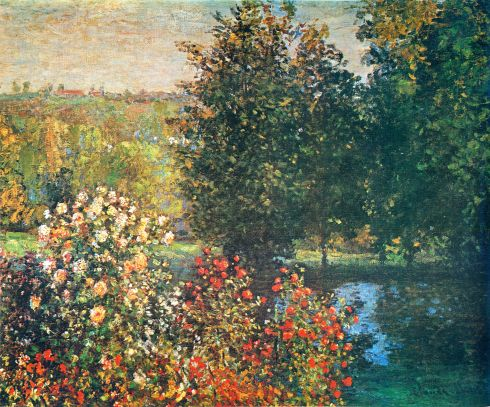 Claude Monet Paintings Roses in the Hoshede`s Garden at Montregon jpg