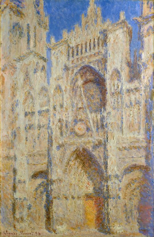 Claude Monet Paintings Rouen Cathedral Portal in the Sun jpg