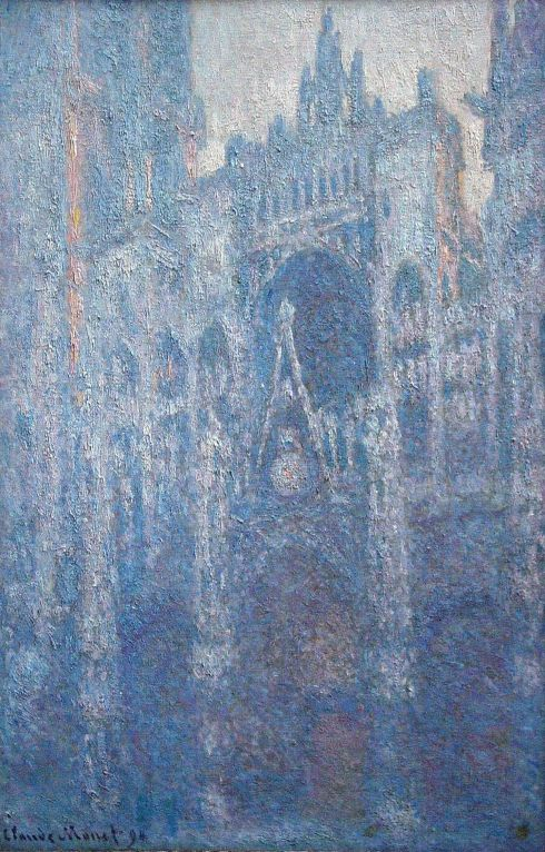 Claude Monet Paintings Rouen Cathedral Clear Day jpg