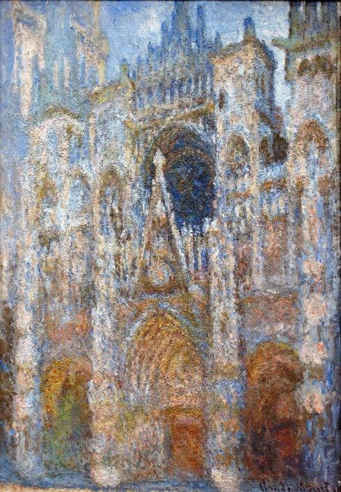 Claude Monet Paintings Rouen Cathedral Magic in Blue jpg
