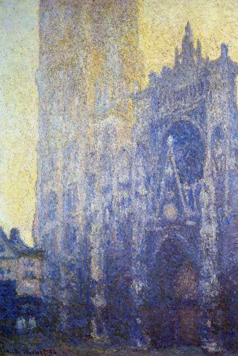 Claude Monet Paintings Rouen Cathedral the Portal Morning Effect jpg