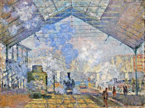 Claude Monet Paintings Saint Lazare Station Exterior View jpg