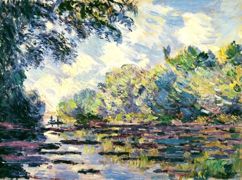 Claude Monet Paintings Section of the Seine near Giverny jpg