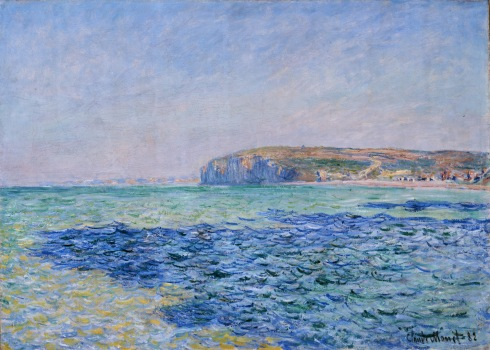 Claude Monet Paintings Shadows on the Sea at Pourville jpg