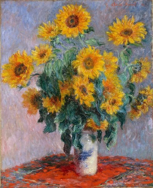 Claude Monet Paintings Bouquet of Sunflowers y jpg