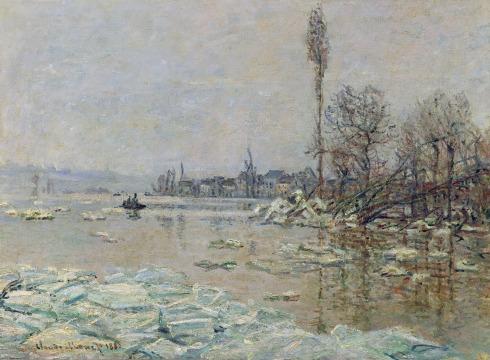 Claude Monet Paintings Breakup of Ice jpg
