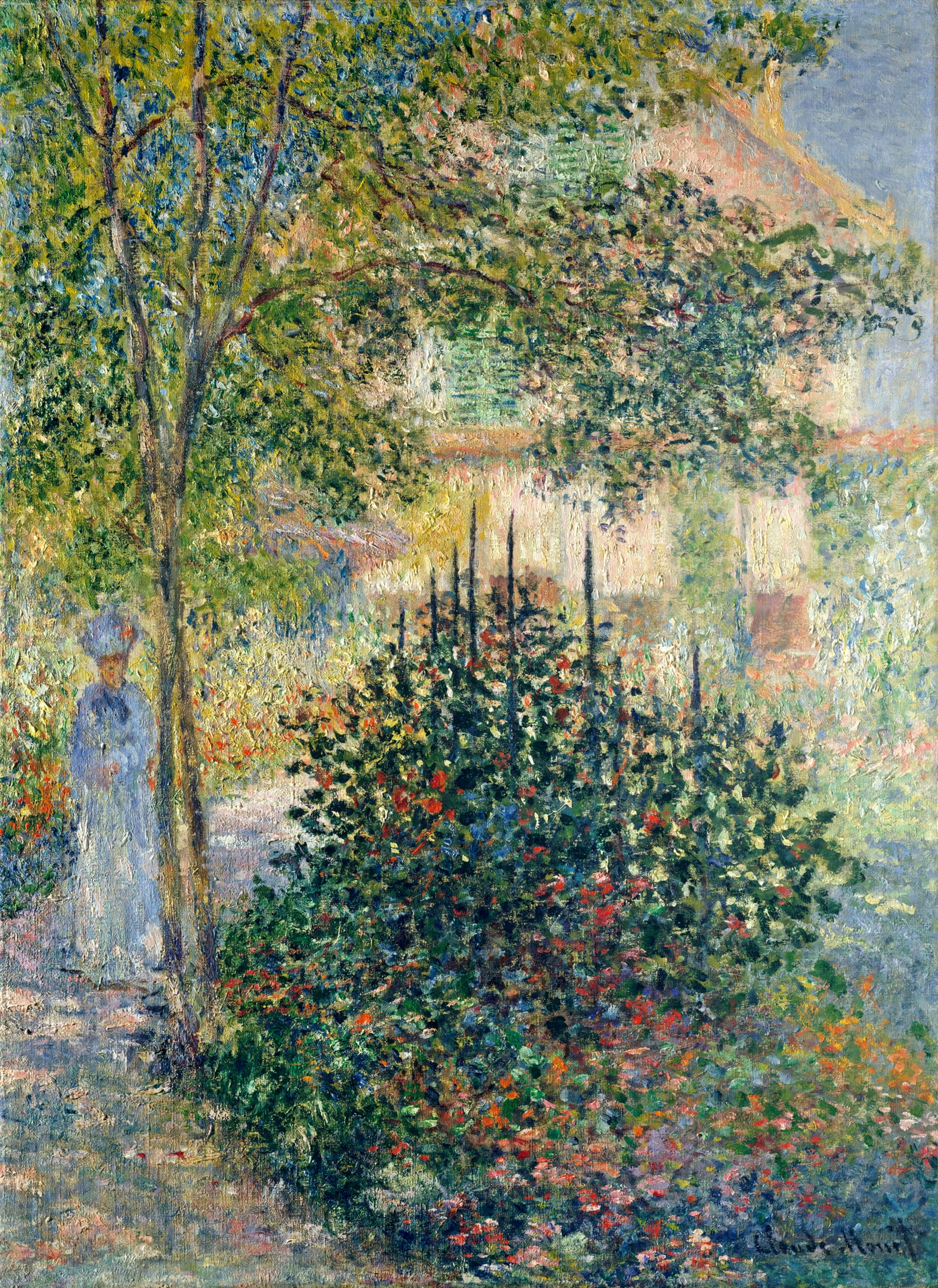 Claude monet paintings camille monet in the garden at the for Monet home