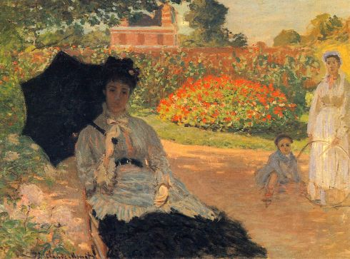 Claude Monet Paintings Camille Monet in the Garden jpg